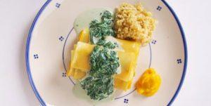 Cannelloni met pompoen en spinazieroomsaus recept