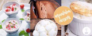 Desserts met aquafaba veganistisch
