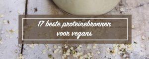 plantaardige eiwitten - Proteïnebronnen voor vegans