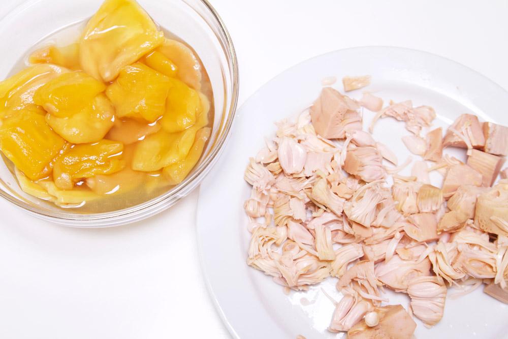 Jackfruit op siroop en op water, in brine