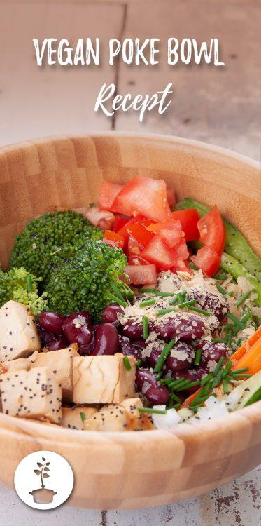 Vegan poke bowl recept