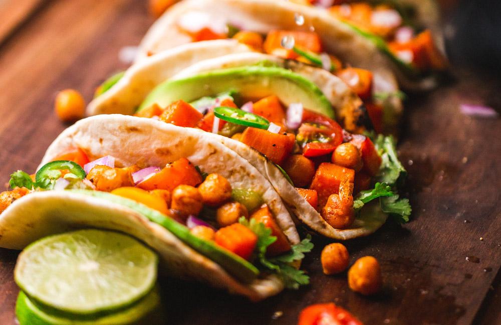 Vegan ontbijt taco
