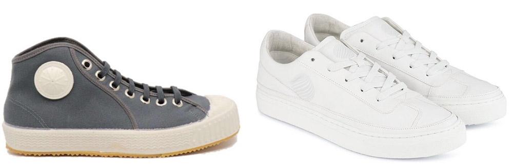 Komrads vegan sneakers - rechts in appelleer