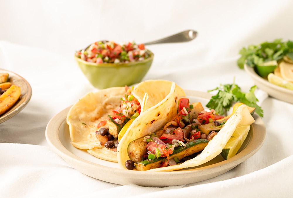 Gegrilde vegan taco