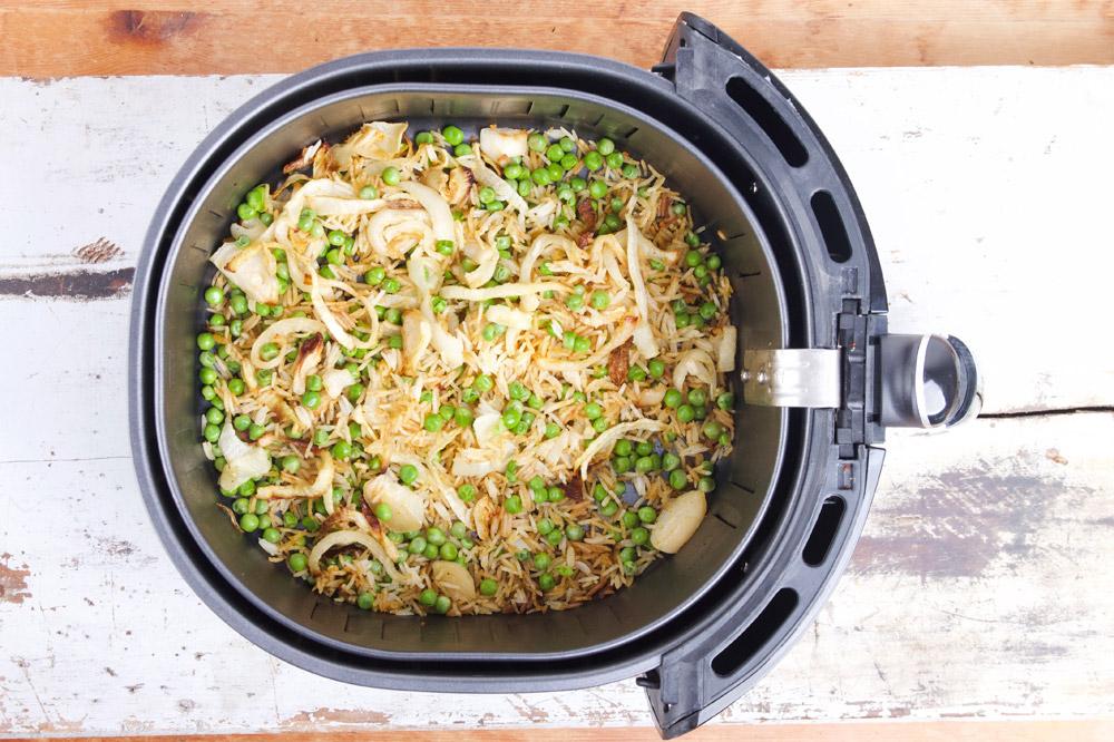 Gebakken rijst in de airfryer / nasi goreng