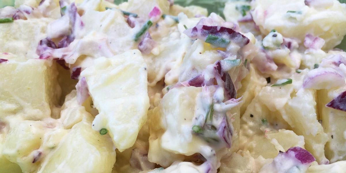 Vegan aardappelsalade maken - recept - bij de bbq