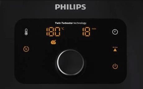 Digitaal display philips airfryer xxl