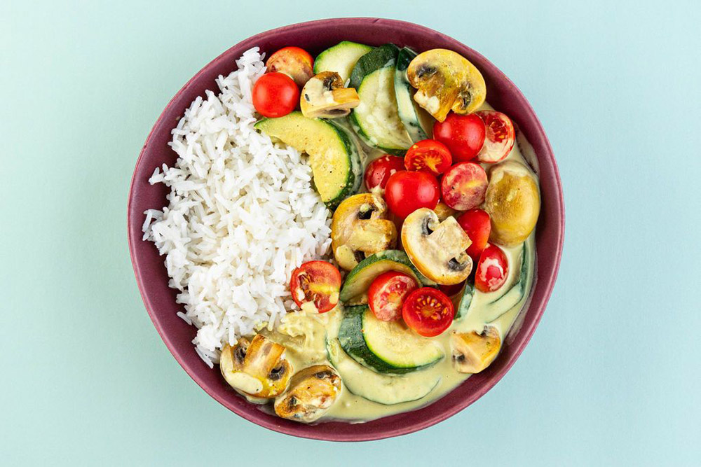 Dinnerly vegan menu en maaltijden