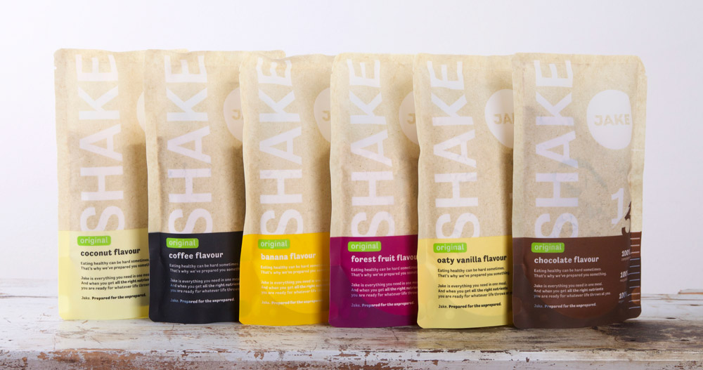 Jake shake in 6 smaken: kokos, koffie, banaan, bosvruchten, haver vanille en chocolade. Onze ervaring en review