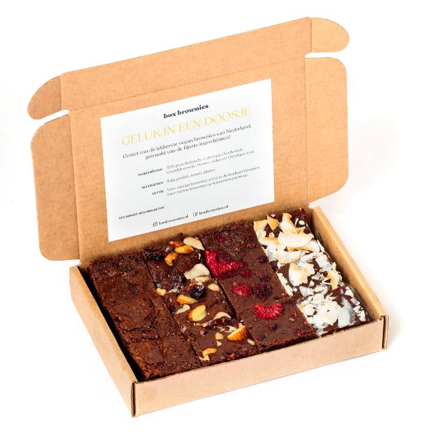 Vegan gebak van Box Brownies bestellen