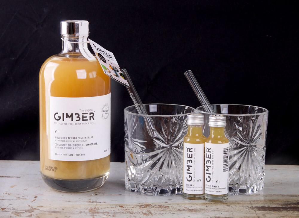 Gimber review - 500 ml en glazen