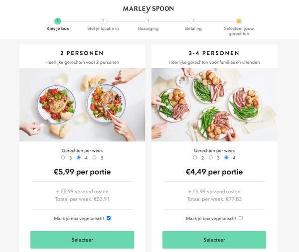 Marley Spoon box bestellen
