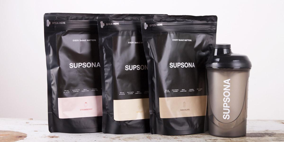 Supsona review - maaltijdshake vanille, chocolade en aardbei